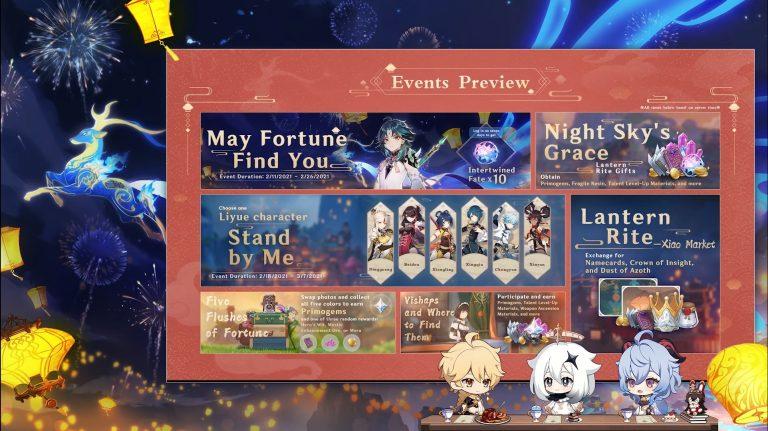 Genshin Impact 1.3 Special Program Details